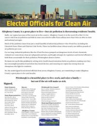 Elected Officials for Clean Air letter